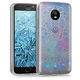 kwmobile Motorola Moto E4 Plus Hülle - Handyhülle für Motorola Moto E4 Plus - Handy Case in Blau Pink Transparent