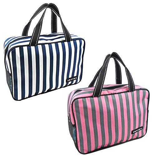 Aufbewahrungsbeutel Lunch Tote Lunchpaket Thermische Kühler Lebensmittel Mittagessen Taschen Isolierte Leinwand Box Tote Bag Für Picknick Schule Büro Reise für Zuhause (Color : Pink+Blue, Size : M) -