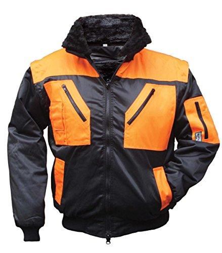 Preisvergleich Produktbild Unbekannt 4208 Jacke Piloten-Multifunktionsgerät 4-in-1-mit-Effekt Warnung XXL Schwarz,  Orange