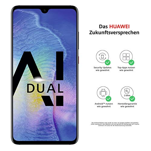 Huawei Mate20 Dual-SIM Smartphone Bundle (6,53 Zoll, 128 GB interner Speicher, 4 GB RAM, Android 9.0, EMUI 9.0) schwarz + USB Typ-C-Adapter [Exklusiv bei Amazon] - Deutsche Version -