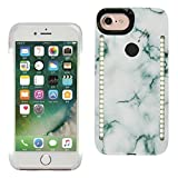iPhone 6/6s/7/8 Selfie LED Phone Case,GSY Selfie LED Light Case for Iphone 6/6s/7/8 - For Cell Phone with Front and Back LED Rechargeable Backup (iphone 6/6s/7/8, Stone Green)