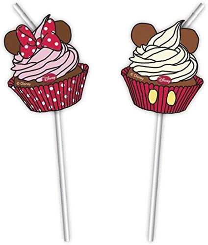 Disney Café Minnie Mouse Parti Pailles, Lot de 6