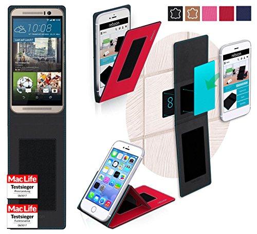reboon Hülle für HTC One M9s Tasche Cover Case Bumper | Rot | Testsieger