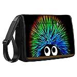 Luxburg® Luxus Design 43cm Schultergurt Messenger Tasche für Laptop/Notebook/– Farbige Igel
