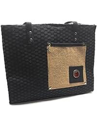 Brisfine Jute Women's Handbag/Shopping Bag Perfect Eco Friendly Naturally Processed Multipurpose Reusable Jute...