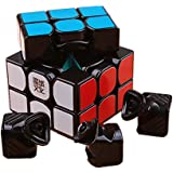 Amour-story Moyu Weilong GTS Speed Cube 3x3 Magic Cube Puzzle autocollant noir