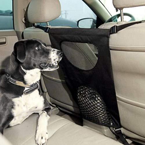 Accesorios para perros - Asiento trasero de seguridad ajustable para mascotas, barrera...