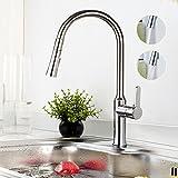BONADE 360° Drehung Küchenarmatur Herausziehbar Armatur Einhebelmischer Küche Wasserhahn Chrom Spülbecken Mischbatterie