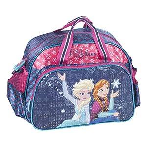 Ragusa-Trade Disney Frozen – Die Eiskönigin Anna und ELSA (DRF), Sporttasche Reisetasche für Mädchen, blau/pink, 40 x 27,5 x 17 cm