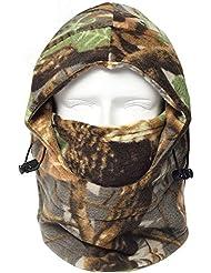 Mascaras de montar - SODIAL(R)Gorra sombrero de caza de camo de bionica vellon a prueba de viento al aire libre de Invierno(Marron)