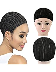 Extensions de cheveux Cap crochet tresses cornrows perruque perruque pour faire plus facile à coudre tressé de...