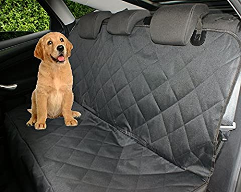 Petastical Best Car Seat Covers for Dogs | Black Waterproof Car Seat Protector for Pets and Kids | Use as Car Hammocks for Pets or Back Seat Covers for Dogs | Quilted Heavy Duty, Non-Slip Design