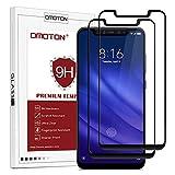OMOTON Protection D'écran Xiaomi Mi 8 Pro, Film en Verre Trempé Complet Résistant aux Rayures pour Xiaomi Mi 8 Pro, Noir [2 Pièces]