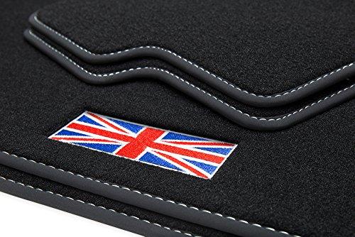teileplus24 500-FBA Tapis de Sol avec liseré Sportifs Union Jack et Bordure Couture