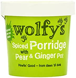 Wolfy's Spiced Porridge with Pear and Ginger Pot 102 g (Pack of 6)