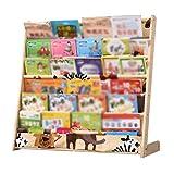Childrens Buntes Riemen-hölzernes Speicher-Bücherregal, Einfaches Kindergarten-Baby-Bilderbuch-Kleines Bücherregal