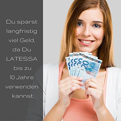 LATESSA Menstruationstasse - Made in Germany - geruchlos - farbstofffrei - medizinisches Silikon - Alternative zu Tampons und Binden - Menstruationstassen als nachhaltige Monatshygiene - Größe 1 - klein - 9