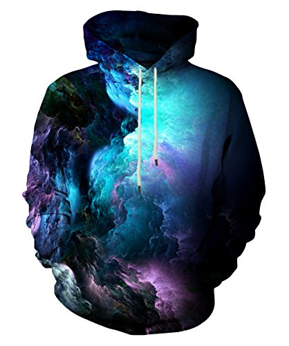 EOWJEED 3D Digital Print Athletic Sweaters Hoodie Kapuzenpulli XL (Athletic Shorts Fleece)