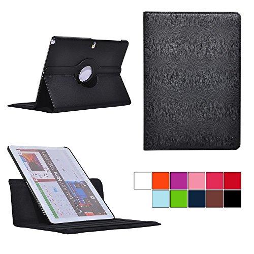 COOVY® Cover für Samsung Galaxy Note PRO 12.2 SM-P900 SM-P901 SM-P905 Rotation 360° Smart Hülle Tasche Etui Case Schutz Ständer | Farbe schwarz
