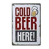 Grifri 20x 30cm Vintage Metal Cartel de Chapa Placa Pared sintética, Vintage Estilo de Pared Ornament Bar Pub Cerveza