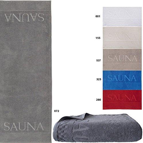 Naturawalk Saunatuch Luxusqualität, 80x200 cm, 100% BIO Baumwolle, GOTS zertifiziert - Größe Saunatuch 80x200 cm, Farbe 072 anthrazit