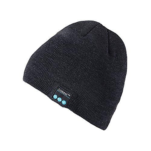 Strickmütze Mütze, Winter Mütze Beanie, Wärmer Häkelarbeithut Angenehm Weich Beanie Ski Hüte Mützen Unisex - By Lisbest™ (NonR-Grau001) (Freund Mini-taste)