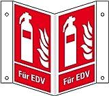 LEMAX® Brandschutz-Nasenschild Feuerlöscher-Für EDV,praxisbewährt,Kunststoff,200x275mm
