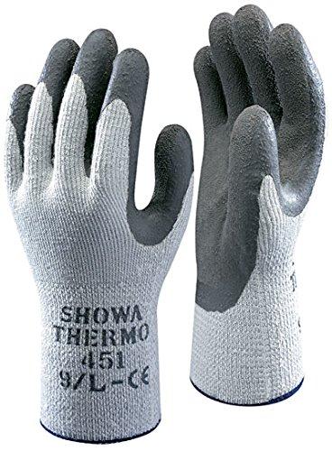 5 Paar Arbeitskleidung Handschuhe Showa 451 Thermo - Thermo Winter Warm - Sicherheitsgriff - Größe 10 XL