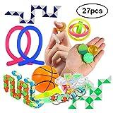 Twister.CK 27PCS Sensory Toys Set, Jouet Anti-Stress et d'anxiété pour Enfants et Adultes, Jouets spéciaux pour des Cadeaux d'anniversaire, Prix de la Salle de Classe, Carnaval