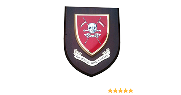 QRL QUEENS ROYAL LANCERS D SQN CLASSIC HAND MADE IN UK REGIMENTAL WALL PLAQUE