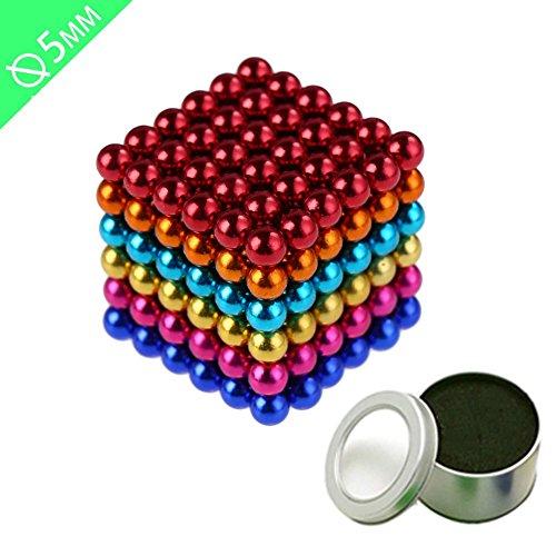 Grapes Garden magnete Kugeln Magnete Stark Mini 216 Kugeln Durchmesser 5MM DIY Kreative Ball mit Magnet Entwickeln Intelligenz Stressabbau Spielzeug Stress Killer mehrfarbig für Home Desktop Office School (mehrfarbig, 5MM) (Viel Stress-ball)