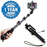 Drumstone 1288 Selfie Monopod Stick With Zoom Bluetooth Shutter With Locust Pocket Size Compact Selfie 3.5Mm AUX Stick