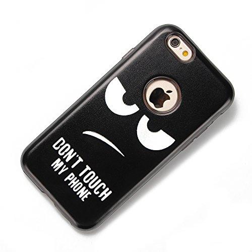 iphone 6 Hülle Hippie, iphone 6s Case Funny, E-Lush TPU Silikon Handy Case Hülle für iphone 6 6s, Hippie Comic Auge Joker Emoji Design Muster Crystal Stoßdämpfend Durchsichtig Rückschale Ultra Slim Th Goggle