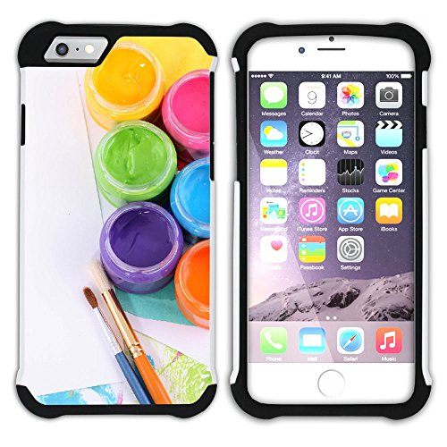 Graphic4You Flasche Farbe Farben Kunst Gemälde Malerei Hart + Weiche Kratzfeste Hülle Case Schale Tasche Schutzhülle für Apple iPhone 6 Plus / 6S Plus Design #31