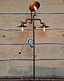 Lampada da Terra Lampada da Terra Industriale Vintage Nera Opaco E27 Vintage Lampada da Terra Industriale Retrò in Design Industriale 230V D52cm*H158cm