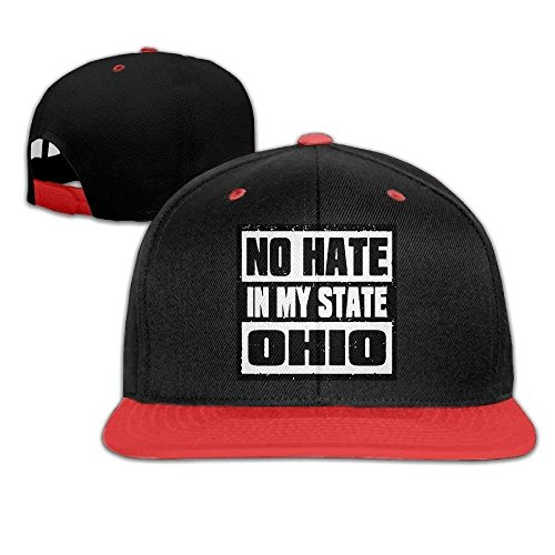 Hate in My State Ohio Men Women Hip Hop Baseball Caps -