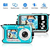 Unterwasserkamera 1080P Full HD Digitalkamera Wasserdicht 24 MP Videorecorder Selfie Camcorder Kamera Dual Screen DV Wasserdichte Kamera