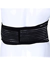 Zhuhaimei,Cinturón magnético infrarrojo lejano de PU Terapia de calefacción automática Soporte Lumbar para cinturón(Color:Negro,Size:Metro)