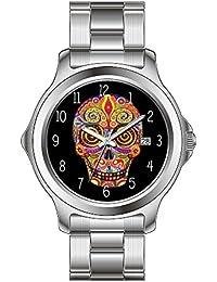 FDC – Navidad regalo relojes hombre Fashion FECHA acero inoxidable reloj de pulsera de cuarzo japonés