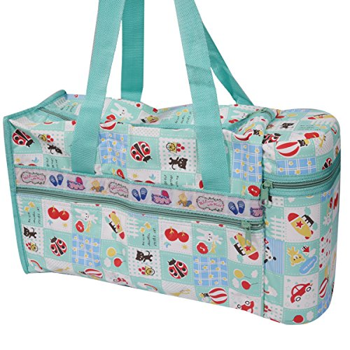 Guru kripa Baby Products™Presents New Born Baby Multipurpose Mother Bag Cum Portable Thermal Warmer Cyan With Holder Dipper Changing Multi Compartment For Baby Care And Maternity Handbag Messenger Bag Diaper Nappy Mama Shoulder Bag Diaper With Warmer Bag With 2 Bottle Holders Keep Baby Bottles Warm With 2 For Baby Multipurpose Waterproof Mother Bag Diaper Bag (Green)  available at amazon for Rs.645