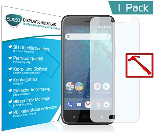 Slabo Premium Panzerglasfolie für HTC U11 Life Panzerfolie Schutzfolie Echtglas Folie Tempered Glass KLAR 9H Hartglas