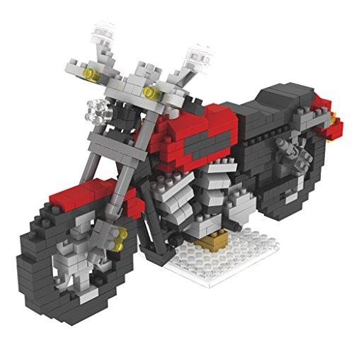 Gazechimp 3D Motorrad Konstruktionsbausteine Spielzeug Kinder Lernspiel 4 Farbe - Rot