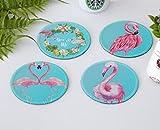 Einfach und kreative Tribal Flamingo Untersetzer von Hot Matte getrennt sind