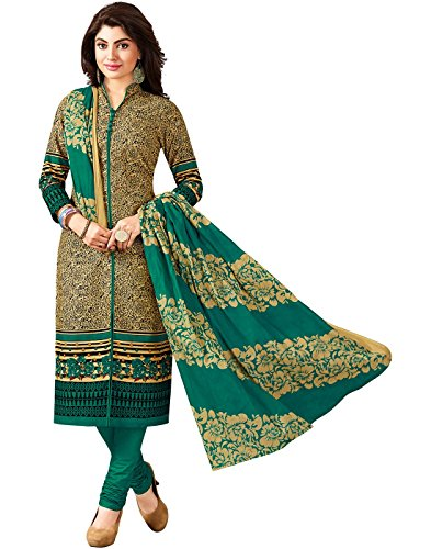 Jevi Prints Women's Cotton Dress Material (Zaara-1021_Free Size_Beige)