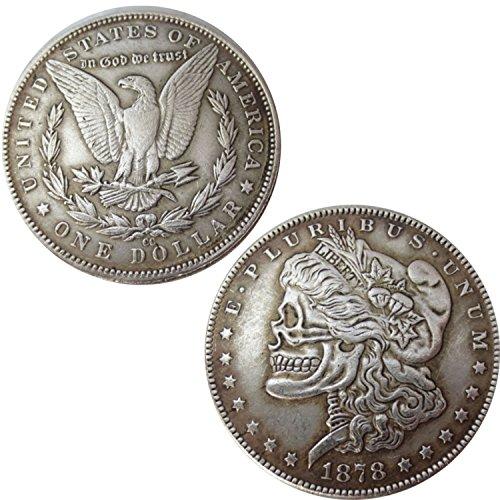Währung Kollektion USA Amerika Replica Dollar Morgan 1878Totenkopf Skull (1878 Morgan-dollar)