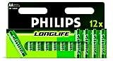 Philips Long Life Batterie AA Mignon 12er Pack