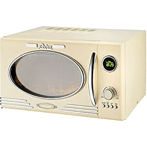 efbe schott retro powerful digital microwave oven and grill function 25 litre 1000 w cream. Black Bedroom Furniture Sets. Home Design Ideas