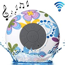 Flower Pattern Mini Waterproof Bluetooth Speaker Altavoz Altavoz Altavoz Altavoz con Suction Cup para iPad/iPhone/Other Bluetooth Mobile Phone, Support Handfree Function, BTS-06