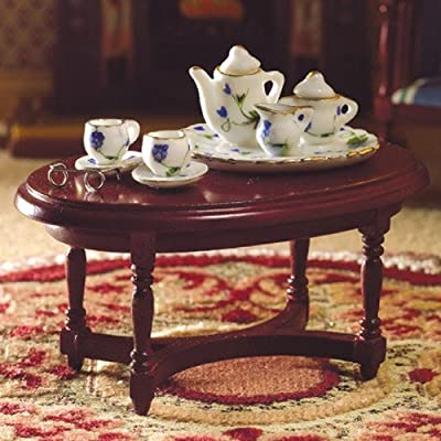 The Dolls House Emporium Oval Coffee Table (M) - cheap UK light shop.