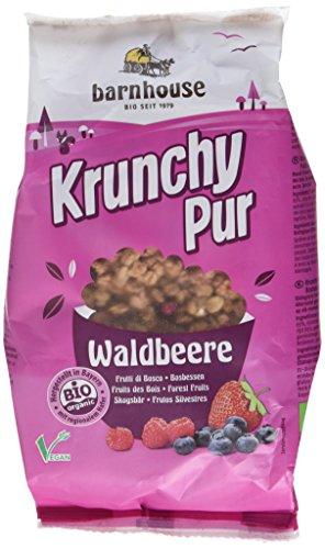 Barnhouse Krunchy Pur Waldbeere, 3er Pack (3 x 375 g Beutel) - Bio